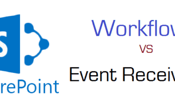 Difference between workflows and event receivers in SharePoint 2013