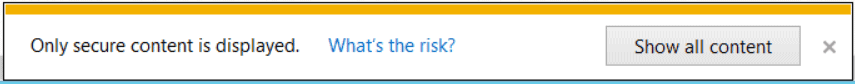 Only secure content is displayed SharePoint