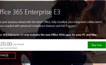 sign up for an Office 365 trial