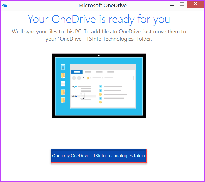 how to sync onedrive with pc folder