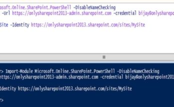 SharePoint Online PowerShell cmdlets