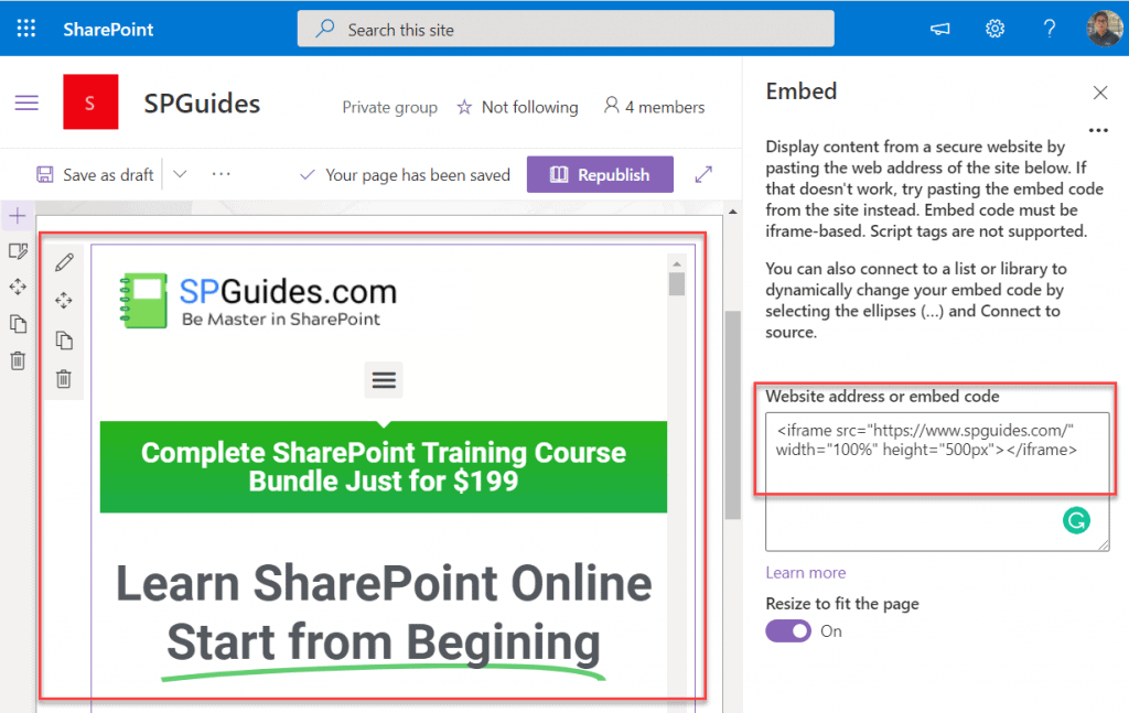 sharepoint online modern page viewer web part