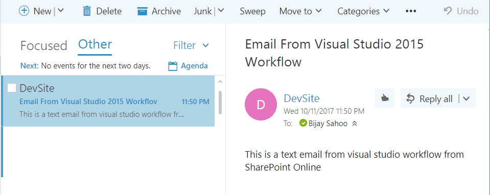 send email activity sharepoint workflow