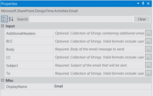 SharePoint online Send email in visual studio 2015 workflow