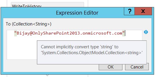 SharePoint 2013 Send email in visual studio 2015 workflow