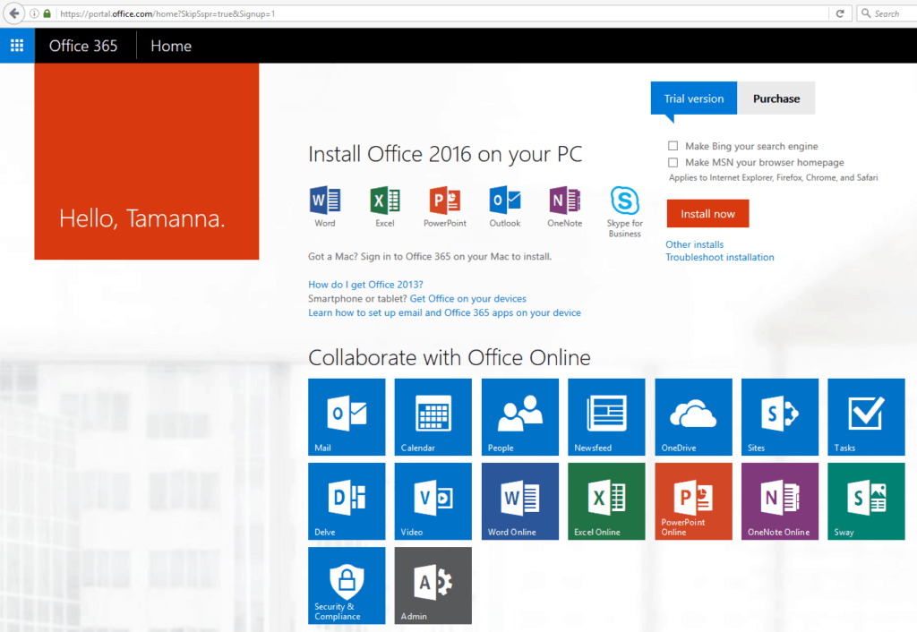 How to sign up for an Office 365 SharePoint Online trial account ...