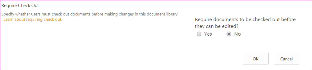 the file is not checked out sharepoint