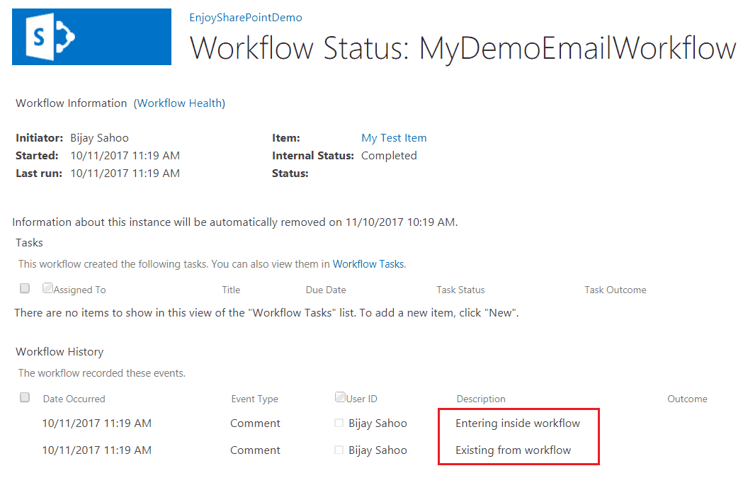 sharepoint 2013 workflow send email when new item created
