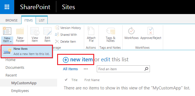 SharePoint 2013 add item to list