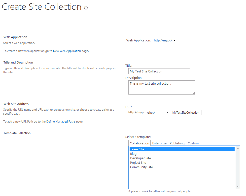 What is site collection in sharepoint 2013 and how to for Sharepoint 2013 product catalog site template