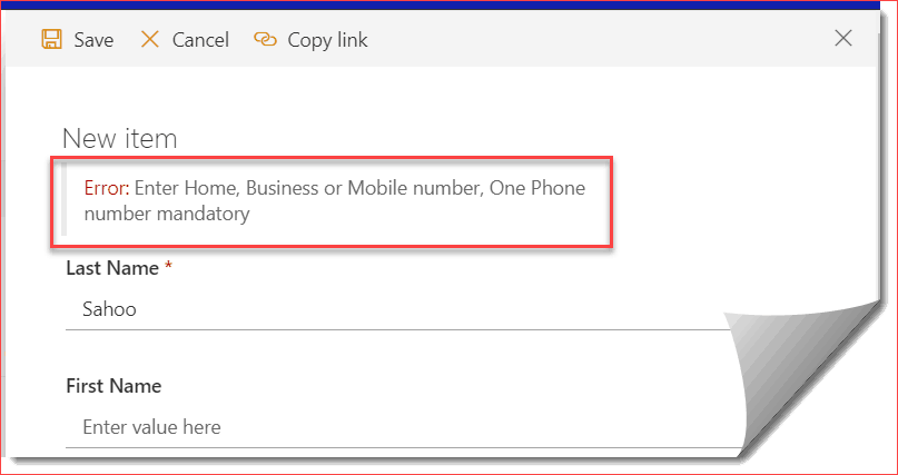 Require at Least One Field in SharePoint list column validation