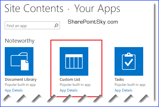 working with custom apps sharepoint online