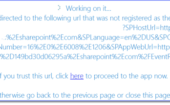 you are being redirected to the following url that was not registered as the app launch url