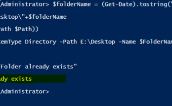 Create folder if not exists using PowerShell