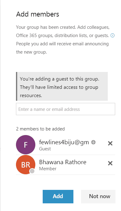 Add users to Office 365 groups