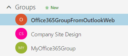 Create office 365 groups from outlook web