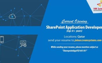 SharePoint developer job openings