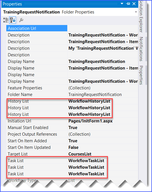 System.InvalidOperationException: Configuration HistoryListId was not found and a default value was not specified