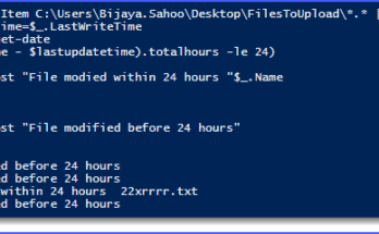 PowerShell find files modified in last 24 hours