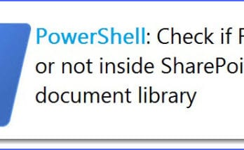 sharepoint powershell check if file exists in library