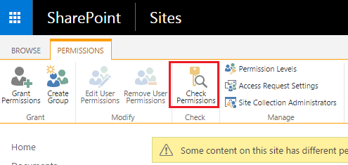 Check user permission sharepoint 2013
