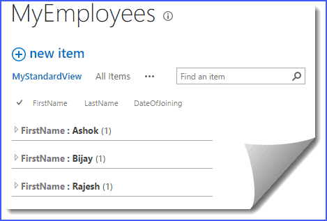 Create list view sharepoint online group by