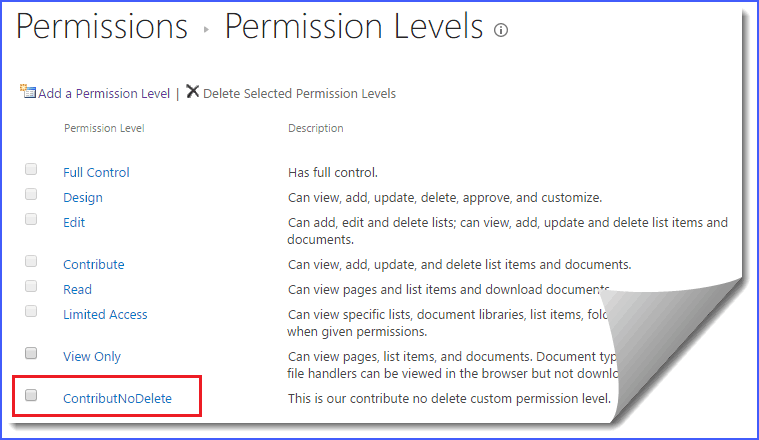 sharepoint permission levels 2013