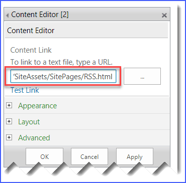 rss feed sharepoint 2013