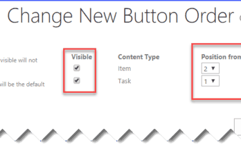 sharepoint change new button order and default content type