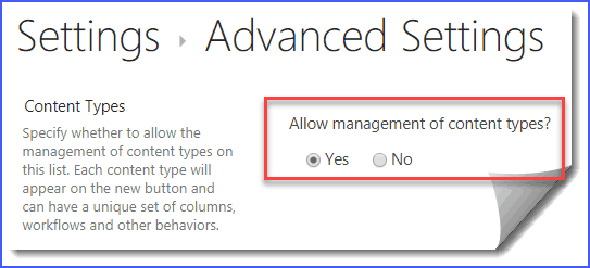 sharepoint online add content type to list or library