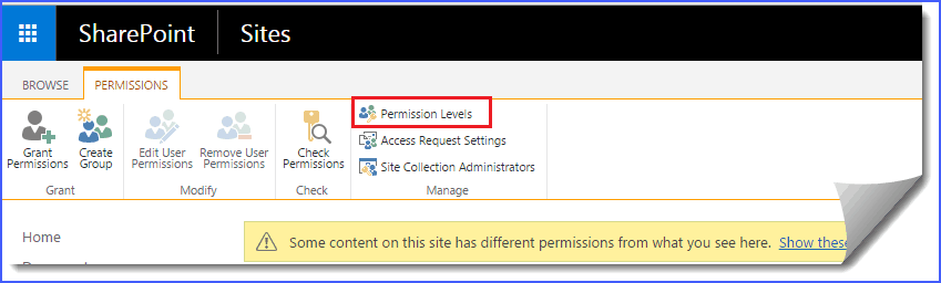 custom permission level sharepoint 2013
