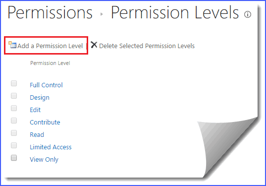 sharepoint online permission levels