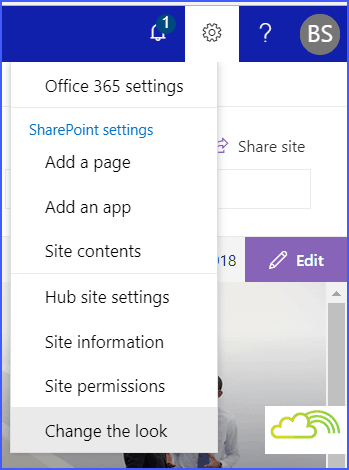 Change Theme in SharePoint online hub site