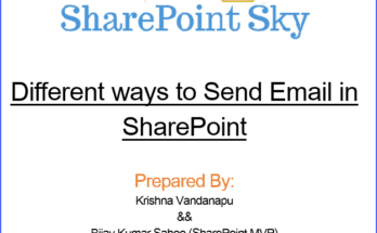 Different ways to send email in SharePoint