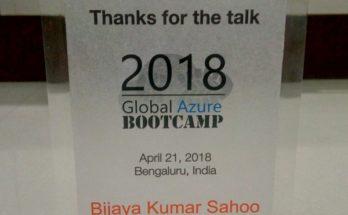 Global Azure Bootcamp In Bangalore