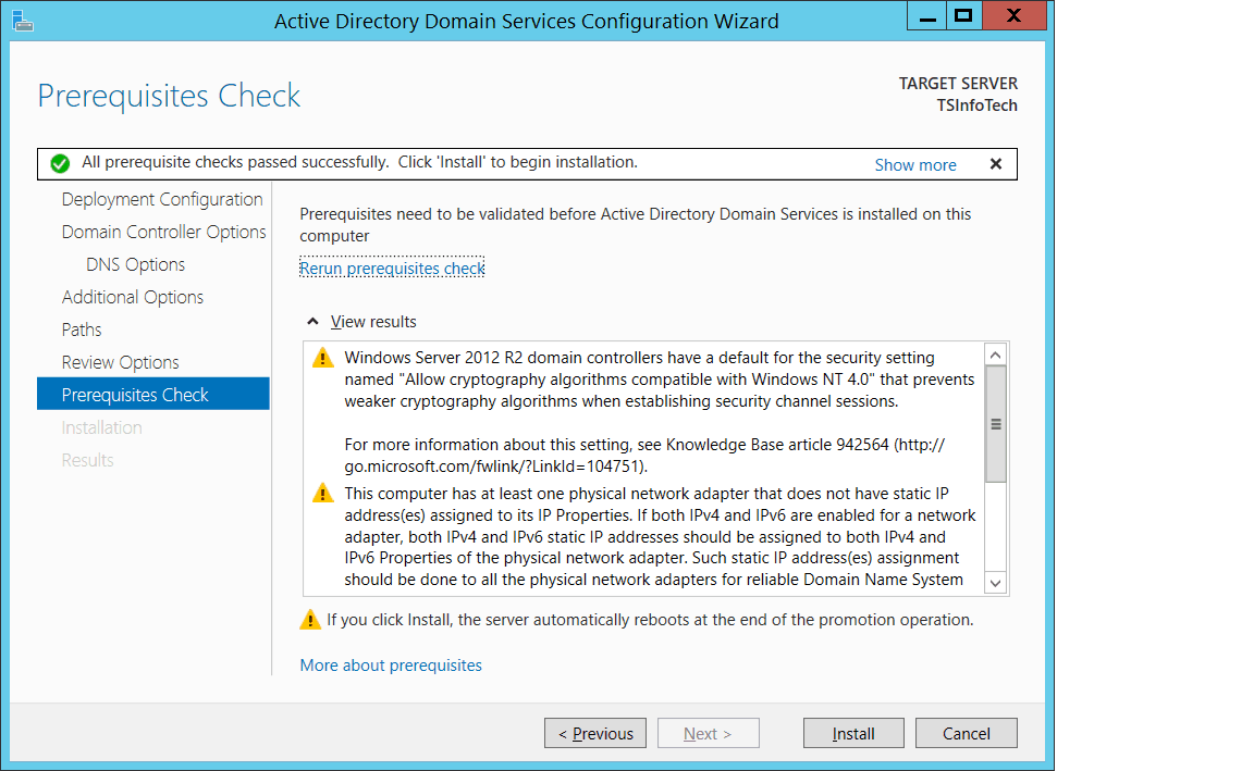 how to create active directory in windows server 2012 r2