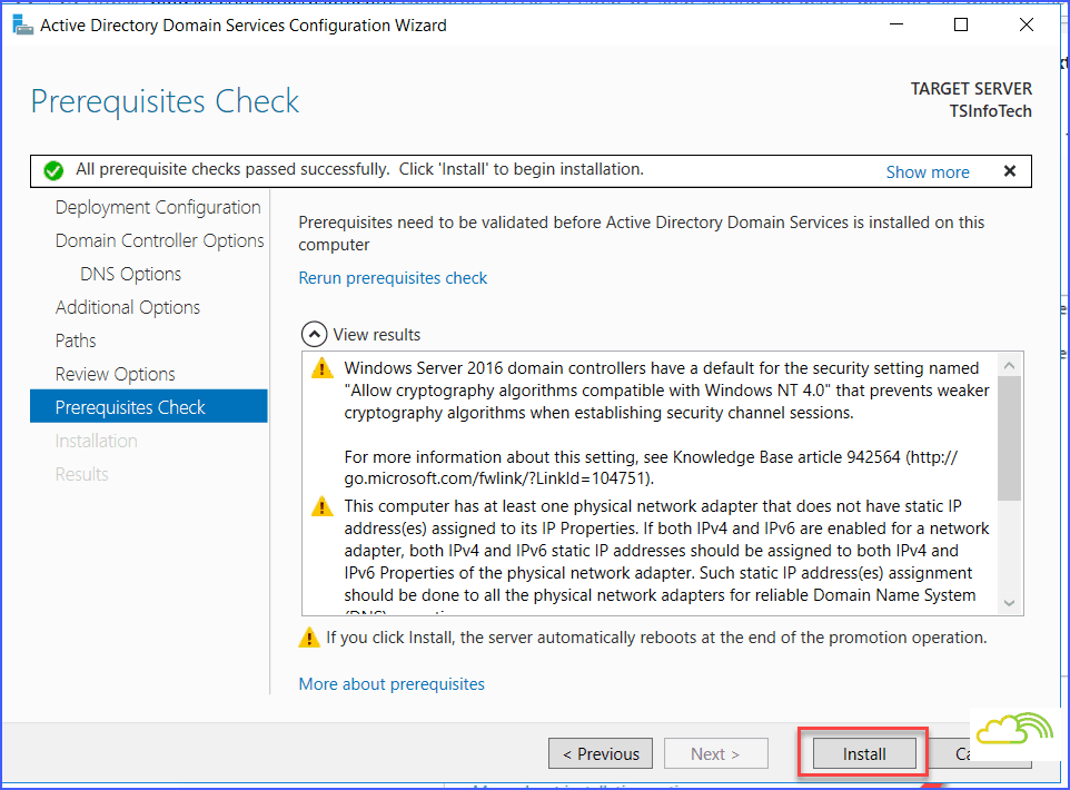 Install and configure windows server 2016 active directory