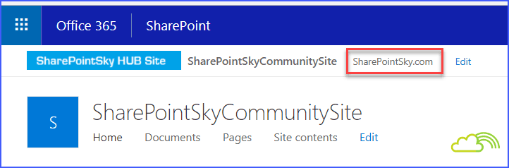 SharePoint online hub site add navigation link