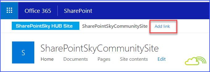 SharePoint online hub site customize navigation