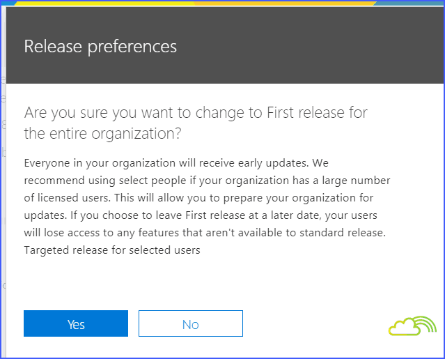 enable targeted release for Office 365 tenant