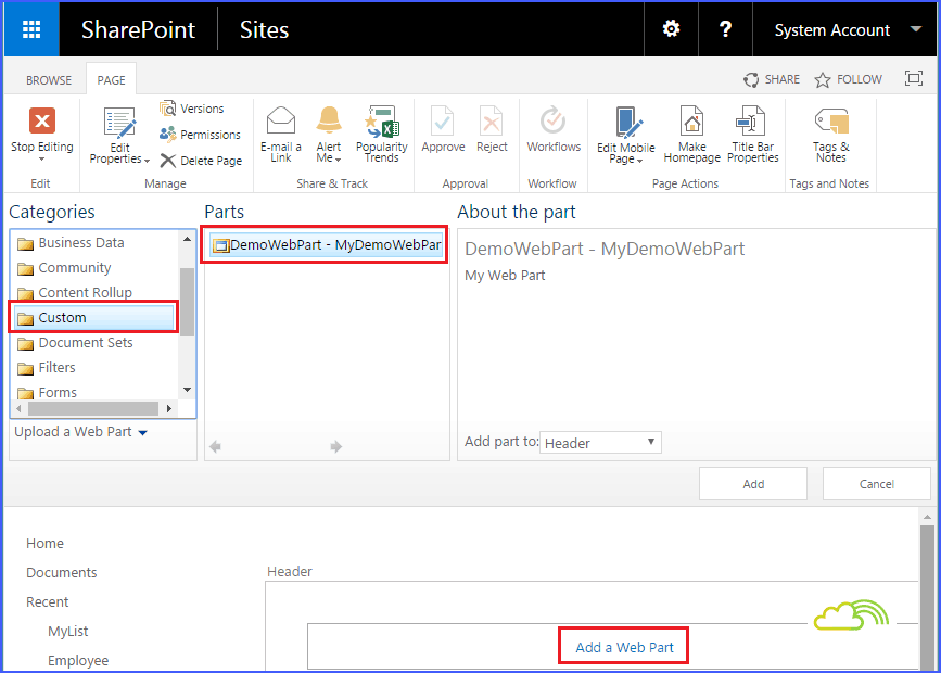 sharepoint web parts examples : Create web part using visual studio 2015 SharePoint 2013