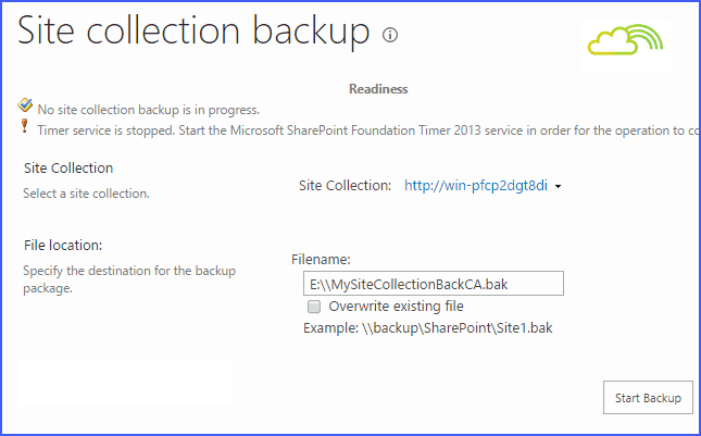 backup and restore in sharepoint 2013 using powershell