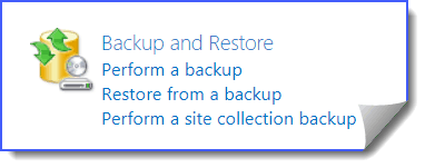 sharepoint 2013 backup and restore