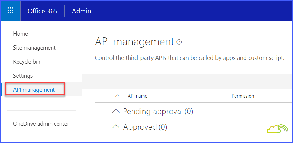 SharePoint online new admin center api management