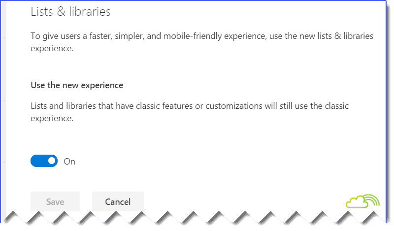 List and library new experience in SharePoint online admin center
