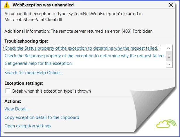Solved] the remote server returned an error (403) forbidden