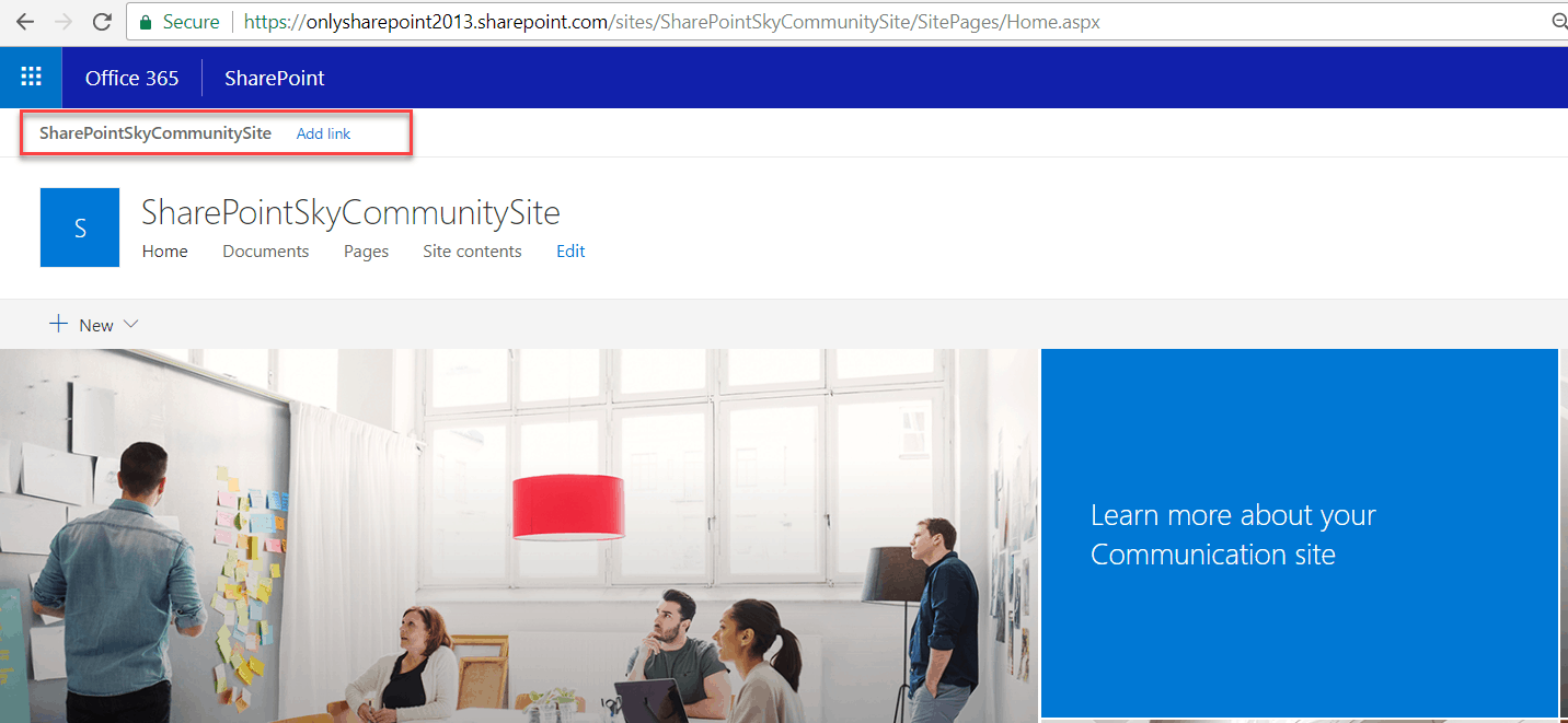 Convert a existing team site to hub site in SharePoint online