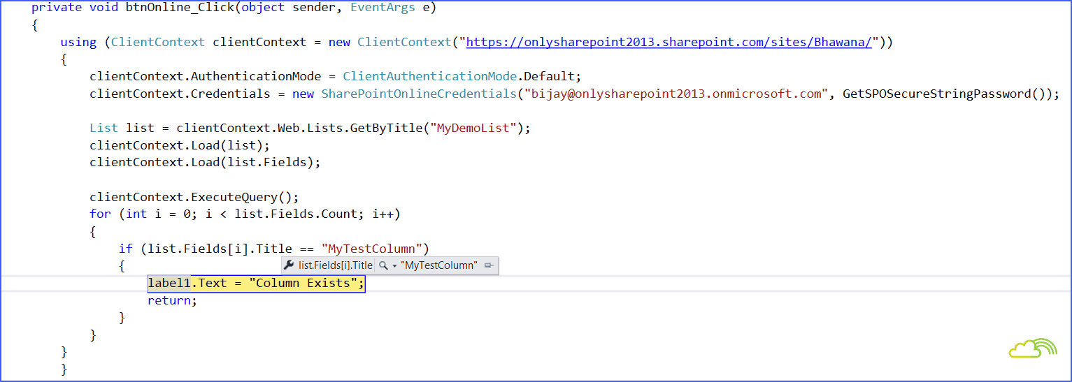 Sharepoint 2016 csom check if column exists or not in sharepoint sharepoint online csom check if column exists in list baditri Choice Image
