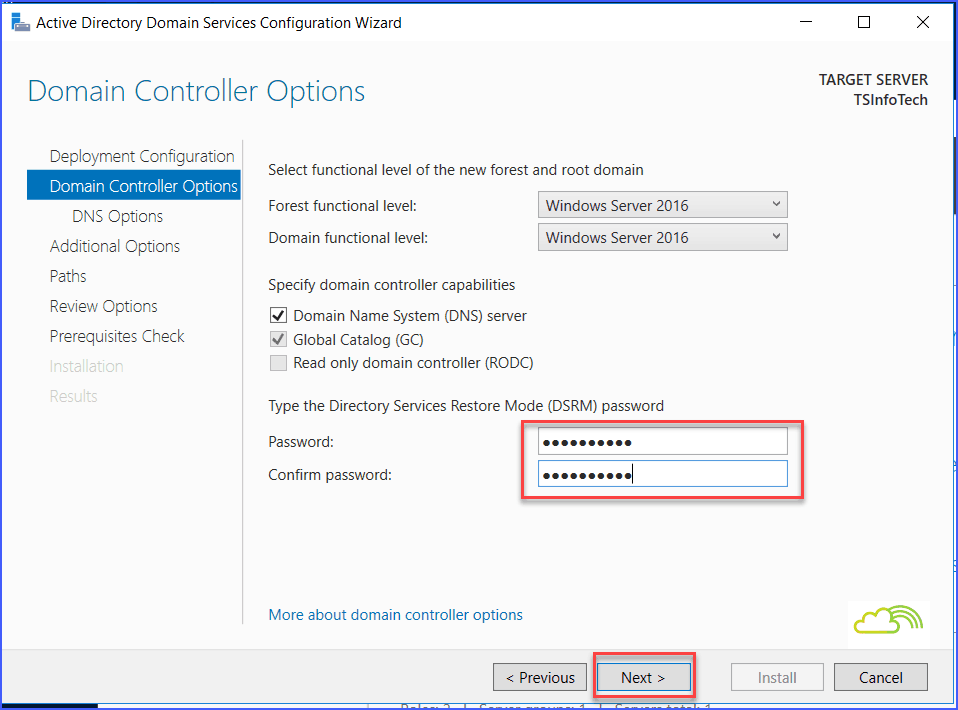 active directory domain controller sharepoint server 2016
