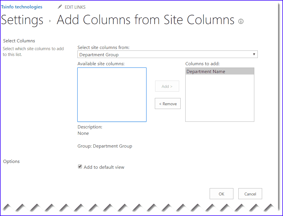 sharepoint 2016 site column